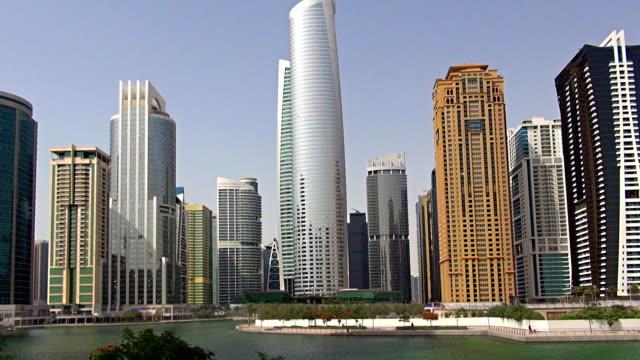 jumeirah lake towers - dubai, uae - tower stock videos & royalty-free footage
