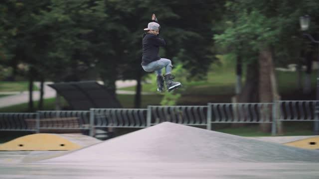 jump 540 - blade stock videos & royalty-free footage