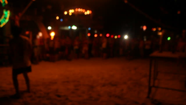 jump fire rope - ko phangan stock videos and b-roll footage