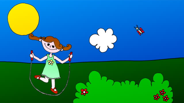 Jump Rope Cartoon
