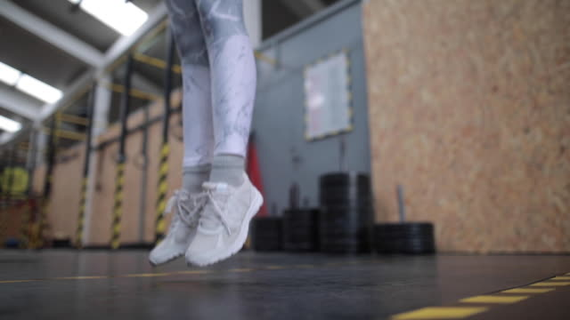 jump rope exercise - sports training drill stock videos & royalty-free footage