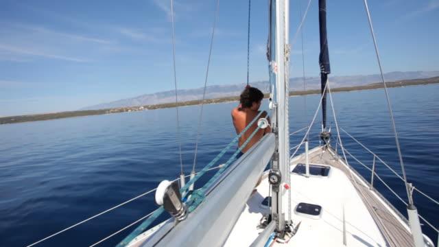 jump - mast sailing stock videos & royalty-free footage