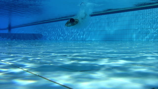 HD UNDERWATER: Jumping And Swimming In Pool