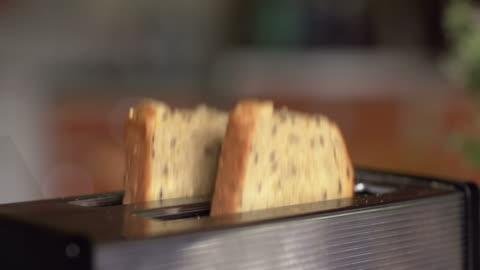vídeos y material grabado en eventos de stock de cámara lenta: salto tostadas - tostada