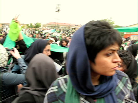 jun 2009 female protestors holding hands during demonstration on street / teheran, iran / audio - human limb stock videos & royalty-free footage