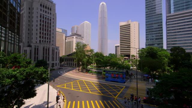 vídeos de stock e filmes b-roll de junction  structures  hong kong - road junction
