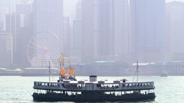 junction  structures  hong kong - sampan stock videos & royalty-free footage