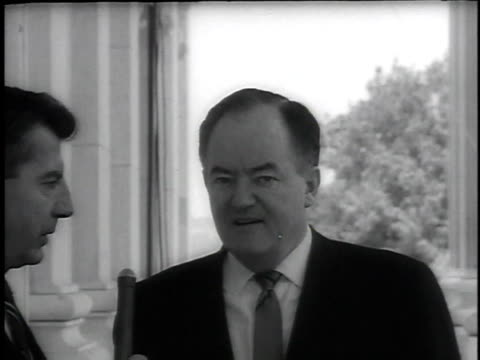 june 11, 1964 montage senator hubert humphrey asked about civil rights bill by reporter / washington, dc, united states - 1964 stock videos & royalty-free footage