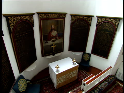 june 16 2003 ha altar in old north church in boston / boston massachusetts united states - old north church stock videos & royalty-free footage