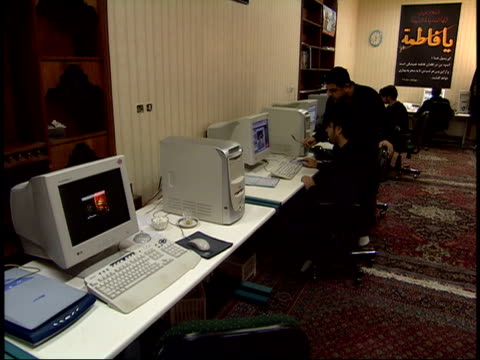 June 16 2005 People working in computer center / Tehran Iran