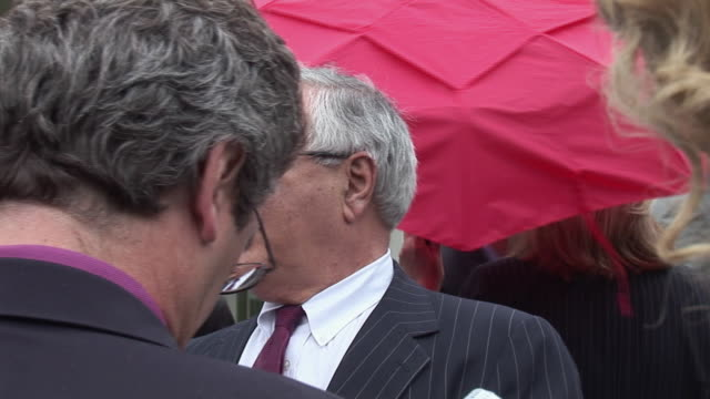 june 17, 2009 representative barney frank answers questions from reporters outside the white house following president obama's address on the economy... - one senior man only stock videos & royalty-free footage