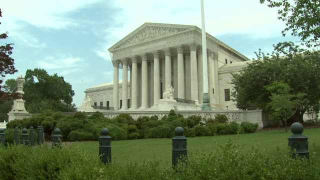 june 2 2009 zi side courtyard of the western entrance of the united states supreme court building / washington dc united states - u.s. supreme court stock videos & royalty-free footage