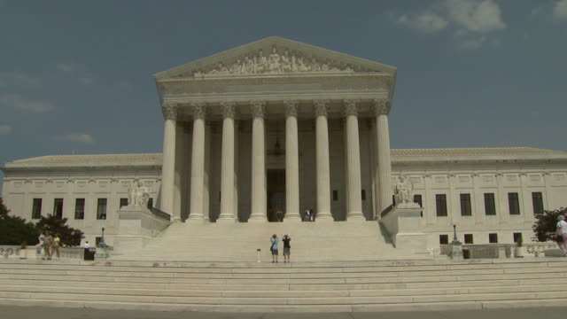 june 20 2006 zi facade and portico of the us supreme court building / washington dc united states - us supreme court building stock videos and b-roll footage