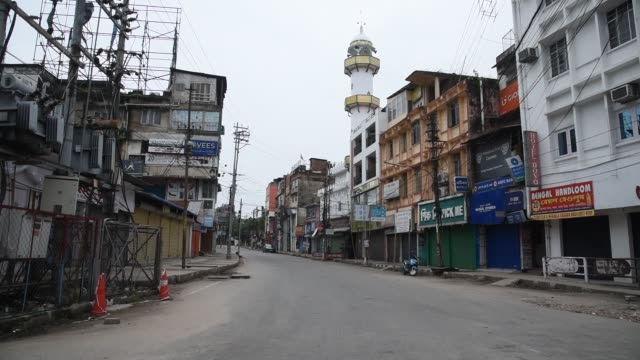 june 2020. 15 wards of guwahati has been declared lockdown due to increase of covid19 positive in guwahati, on wednesday, 24 june 2020. - epidemic stock videos & royalty-free footage