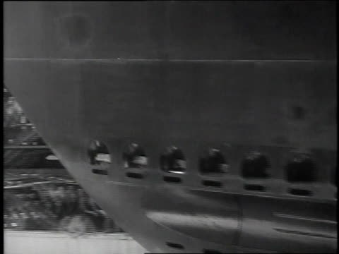 june 21 1939 ms uss searaven being launched / kittery maine united states - kittery stock videos & royalty-free footage