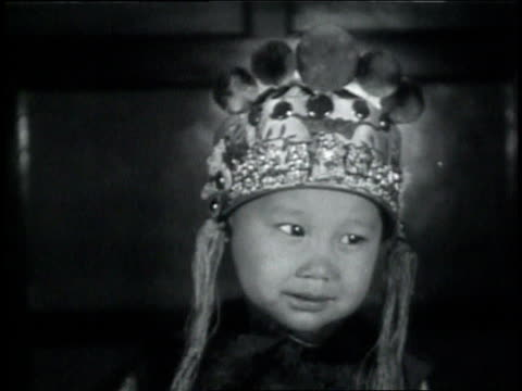 june 22, 1931 montage costumed children posing during baby show in chinatown / portland, oregon, united states - 1931 stock videos & royalty-free footage