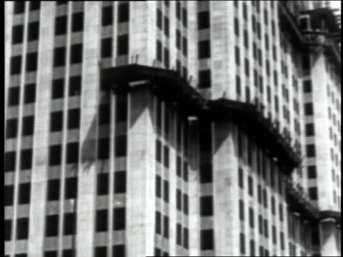 june 23, 1930 exterior shot of empire state building during construction / new york city, new york, united states - 1930 stock videos & royalty-free footage