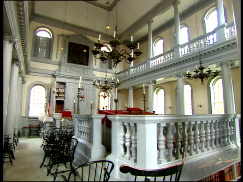 june 26 2003 montage decor inside the old north church in boston / massachusetts united states - old north church stock videos & royalty-free footage