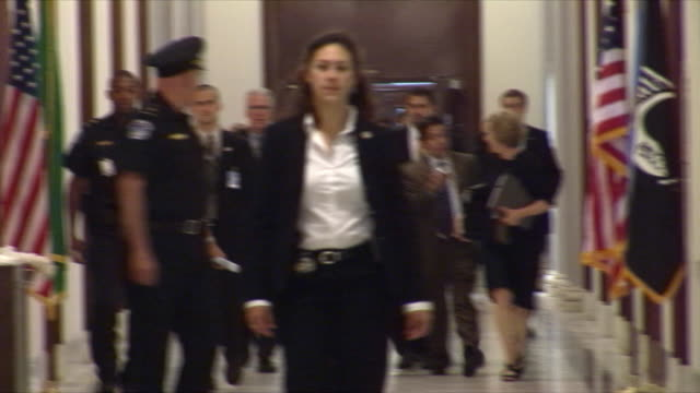 june 3 2009 us supreme court justice nominee judge sonia sotomayor walking down hallway in senate office building in washington dc / audio - building feature stock videos & royalty-free footage