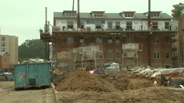june 6 zi clarendon apartment building under construction / arlington virginia united states - incomplete stock videos and b-roll footage