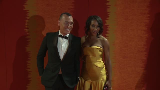 june ambrose and joe zee at the 2015 hbo emmy after party at the plaza at the pacific design center on september 20, 2015 in los angeles, california. - pacific design center stock videos & royalty-free footage