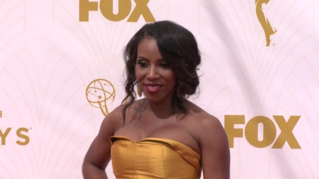 june ambrose at 67th annual primetime emmy awards in los angeles, ca 9/20/15 - annual primetime emmy awards stock videos & royalty-free footage