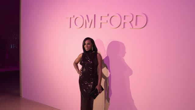june ambrose at tom ford new york fashion week spring 2018 at park avenue armory on september 06 2017 in new york city - waffenlager stock-videos und b-roll-filmmaterial