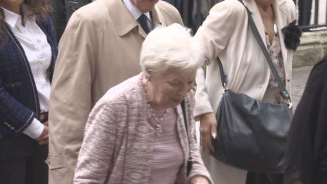 june whitfield at a service of thanksgiving for the life and work of sir terry wogan at westminster abbey on september 27, 2016 in london, england. - terry wogan stock-videos und b-roll-filmmaterial