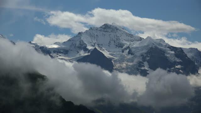 jungfrau, bernese alps, canton of bern, switzerland - bernese alps stock videos & royalty-free footage