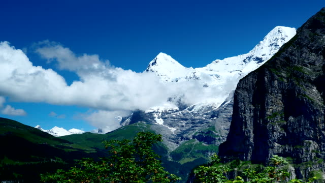 jungfrau scenic area in switzerland - paragliding stock videos & royalty-free footage