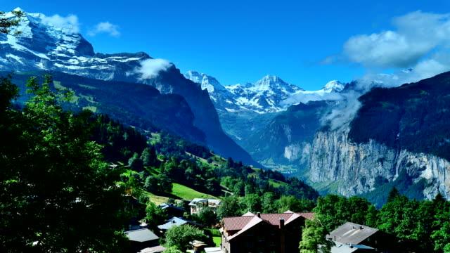 Jungfrau scenic area in Switzerland