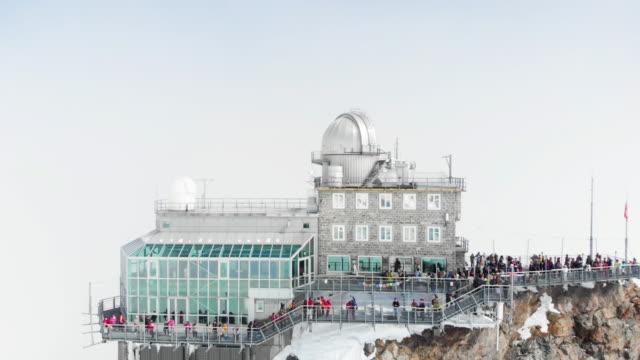 jungfrau top of europe - mountain peak stock videos & royalty-free footage
