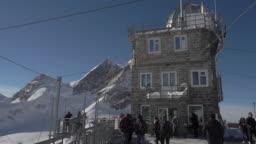 Jungfraujoch Sphinx Observatory 3571 Meter Above Sea Stock Footage Video