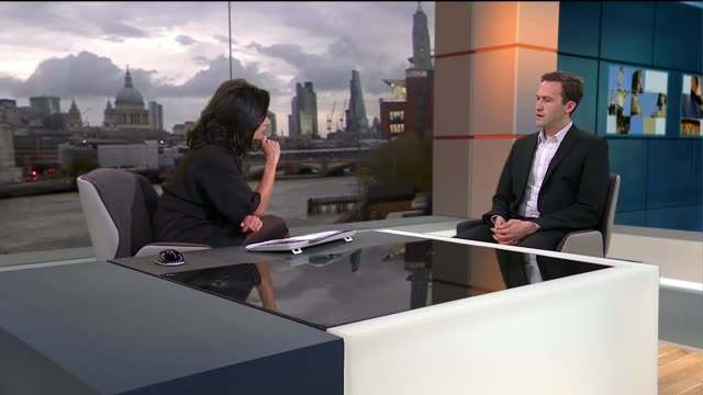 junior doctors contract dispute: jeremy hunt hits out at the bma; england: london: gir: int dr ben white live studio interview sot - ニナ・ホサイン点の映像素材/bロール