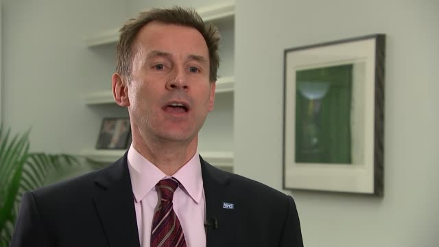 junior doctors to take strike action over contract changes; england: london: int jeremy hunt mp interview sot - well it's a very dissappointing... - strike industrial action stock videos & royalty-free footage