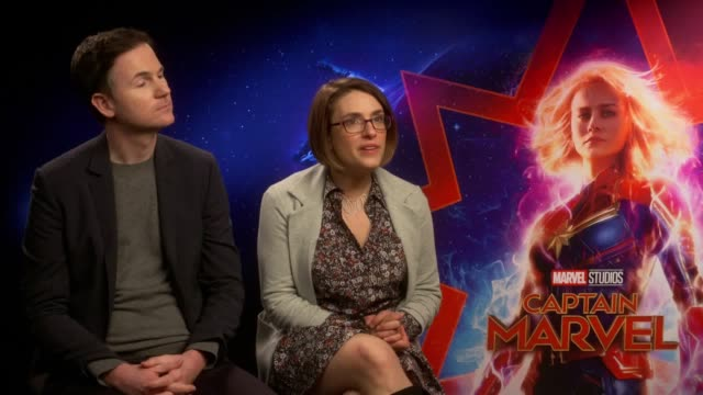 Junket interview with directors Anna Boden and Ryan Fleck for Captain Marvel which is released on March 8