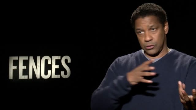 junket interviews for the film fences with director and star denzel washington, viola davis, stephen mckinley henderson and jovan adepo and russell... - ミケルティ ウィリアムソン点の映像素材/bロール