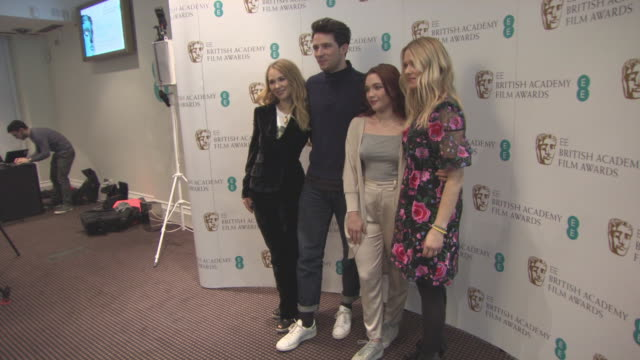 Juno Temple Josh O'Connor Florence Pugh Edith Bowman at The EE British Academy Film Awards Rising Star Nomination Announcement at BAFTA on January 04...