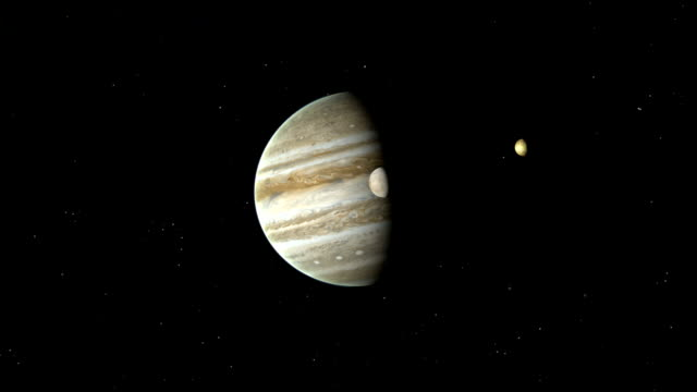 stockvideo's en b-roll-footage met jupiter and the galilean moons - galileo galilei