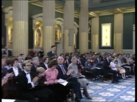 'Jupiter' cruise ship survivors decorated ENGLAND London Mansion House INT Rickwood Elmes receiving bravery award and intvwd SOT