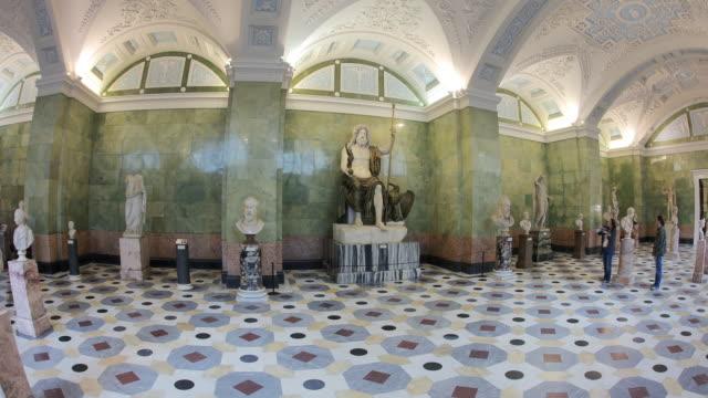 jupiter hall fisheye hl 2 - art gallery stock videos & royalty-free footage