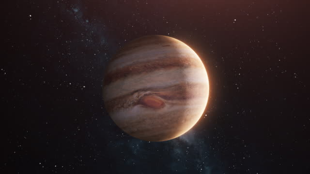 jupiter in open space - milky way stock videos & royalty-free footage