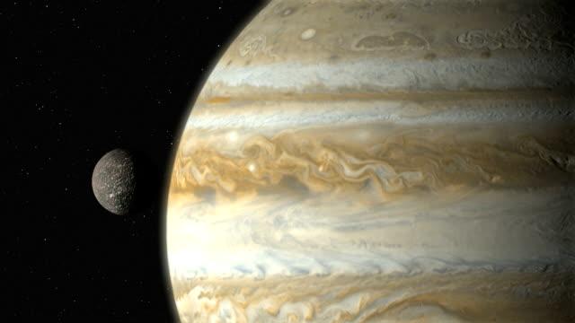 jupiter's moon callisto - mond stock-videos und b-roll-filmmaterial