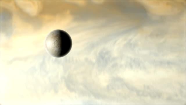 vídeos de stock e filmes b-roll de jupiter's moon europa - júpiter
