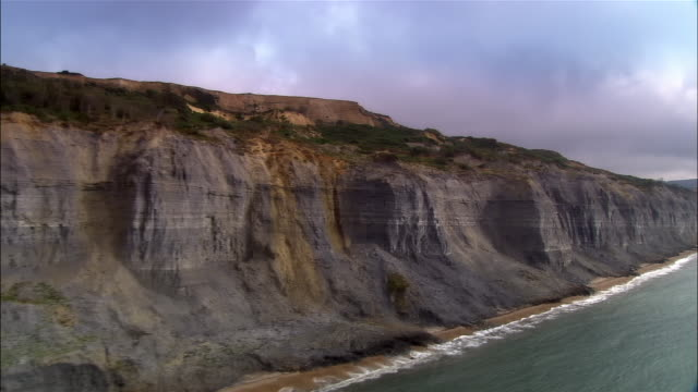 low aerial, jurassic coast, dorset, england - english channel stock videos and b-roll footage