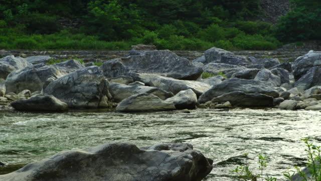 jurassic conglomerates of joyang river, jeongseon county, gangwon province, south korea - jurassic stock videos & royalty-free footage