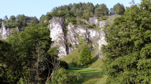 jurassic rock formation in north bavaria - jurassic stock videos & royalty-free footage