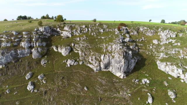 jurassic rocks of the franconian jura formation in bavaria - jurassic stock videos & royalty-free footage