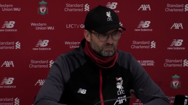 jurgen klopp gives his reaction to liverpool 3 man city 1 premier league match dissecting the game he says his team was worthy of the three points... - soccer association stock videos & royalty-free footage