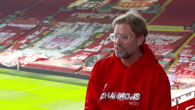 jurgen klopp saying as long as we stay humble anything is possible after liverpool secure the premier league title - number stock videos & royalty-free footage